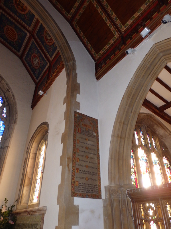 Lime plastering repairs carried out at Benenden Church