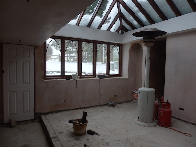 Float and Set Arch, Block walls floated and set with plaster using https://www.british-gypsum.com/ to create Arches and plastered walls carried out in 2018.
