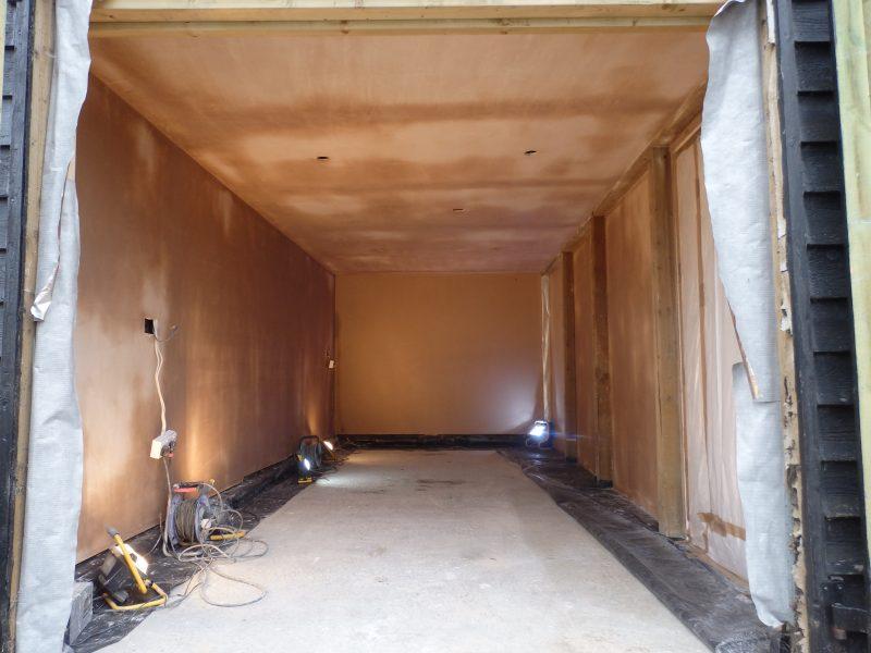 Plasterboard Garage after Skimmed
