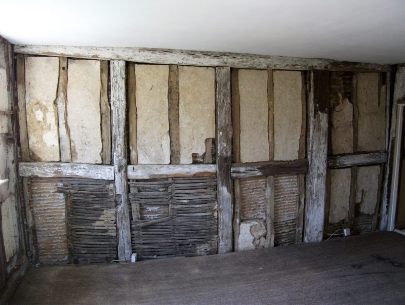 Before Lime plaster repairs 2013