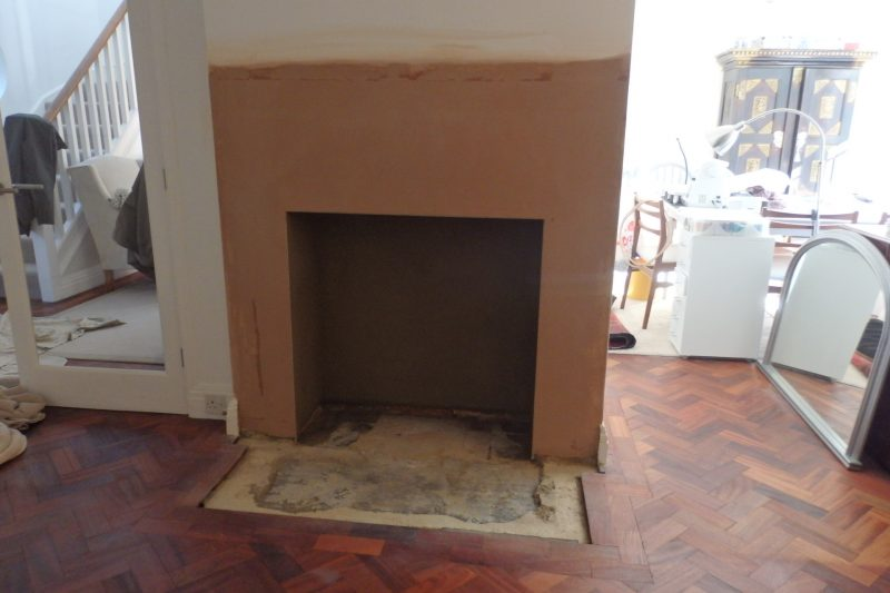 New Fire place. This is after the work has been carried out at Loose, near Maidstone, Kent.