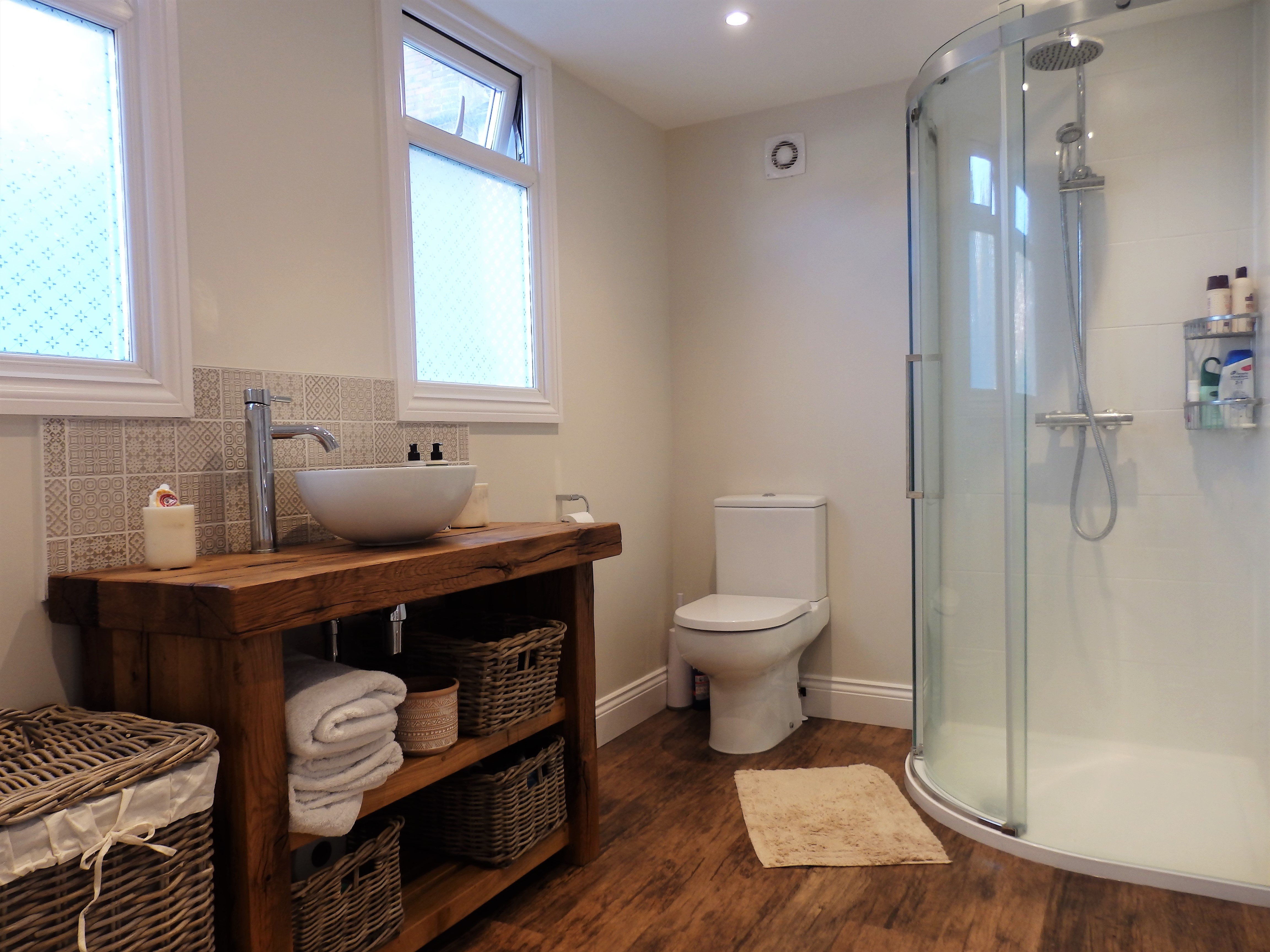 The bathroom all finished